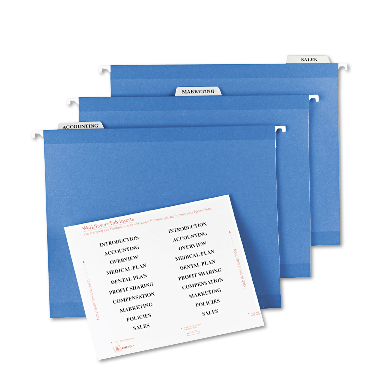 tabs inserts for hanging file folders 1 3 cut tabs white. Black Bedroom Furniture Sets. Home Design Ideas