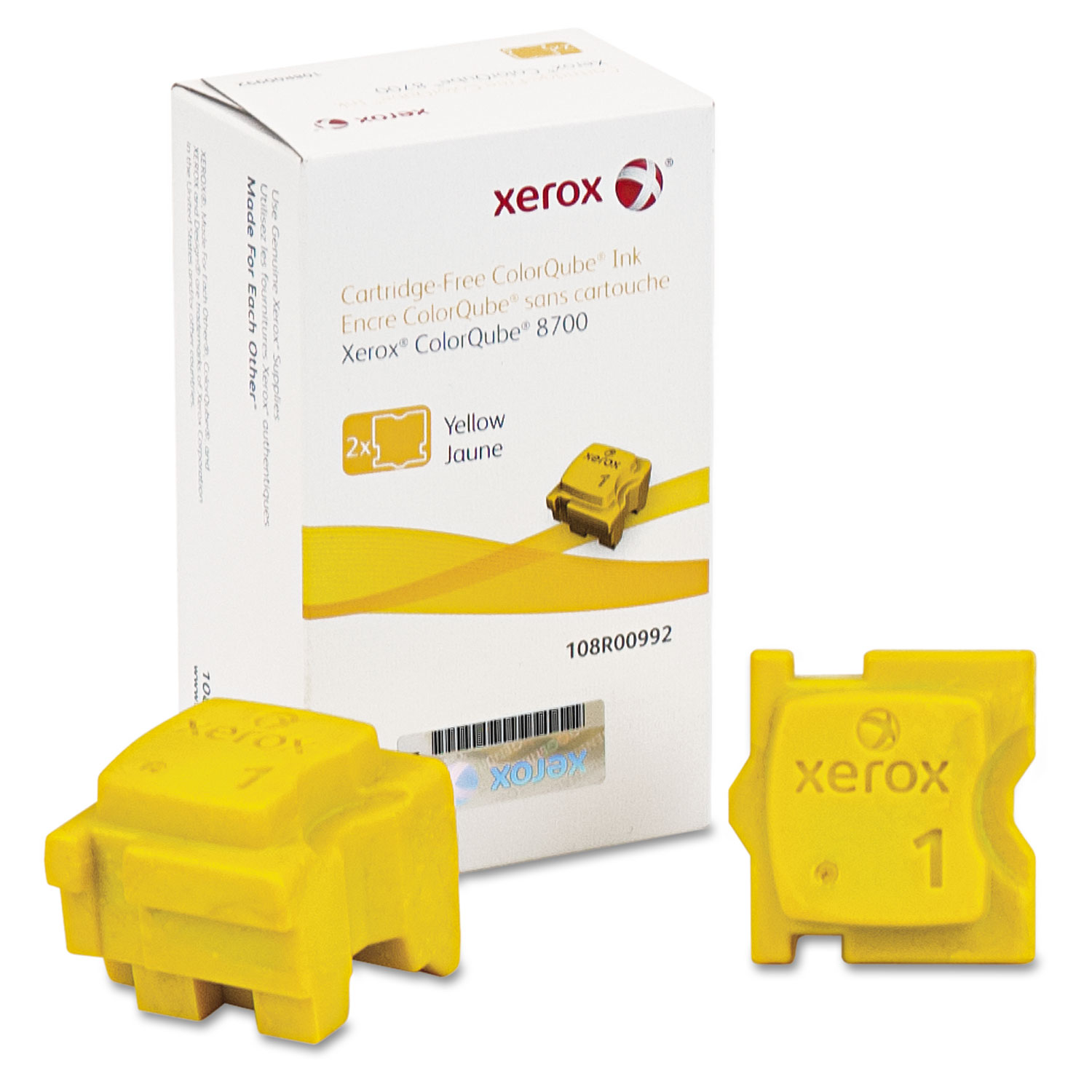 108R00992 Solid Ink Stick, 4200 Page-Yield, Yellow, 2/Box