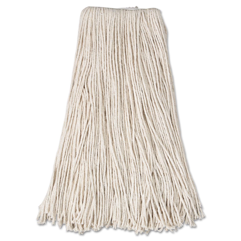 Cut-End Mop Head, Cotton, 24oz, White