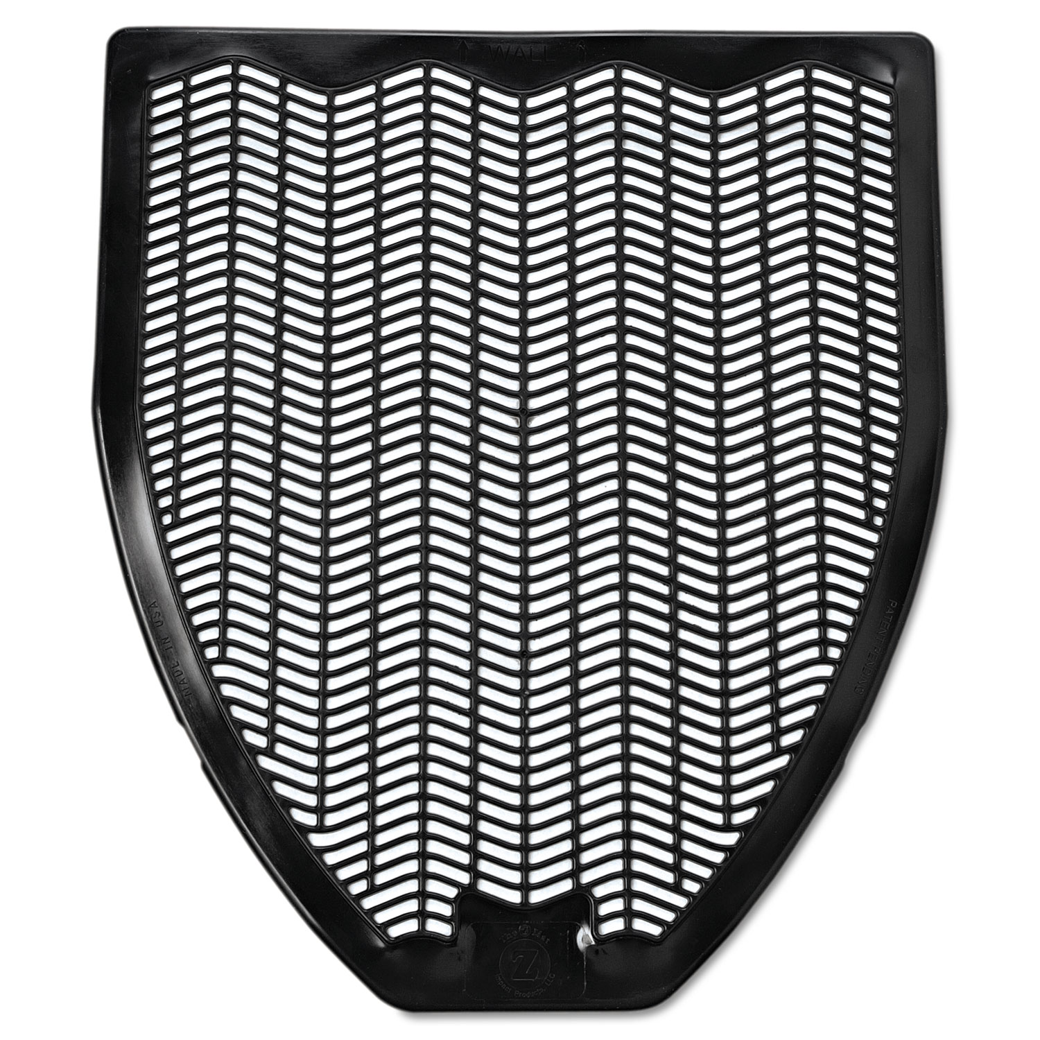 Disposable Urinal Floor Mat, Nonslip, Fresh Blast Scent, 17 1/2 x 20 3/8, Black, 6/Carton
