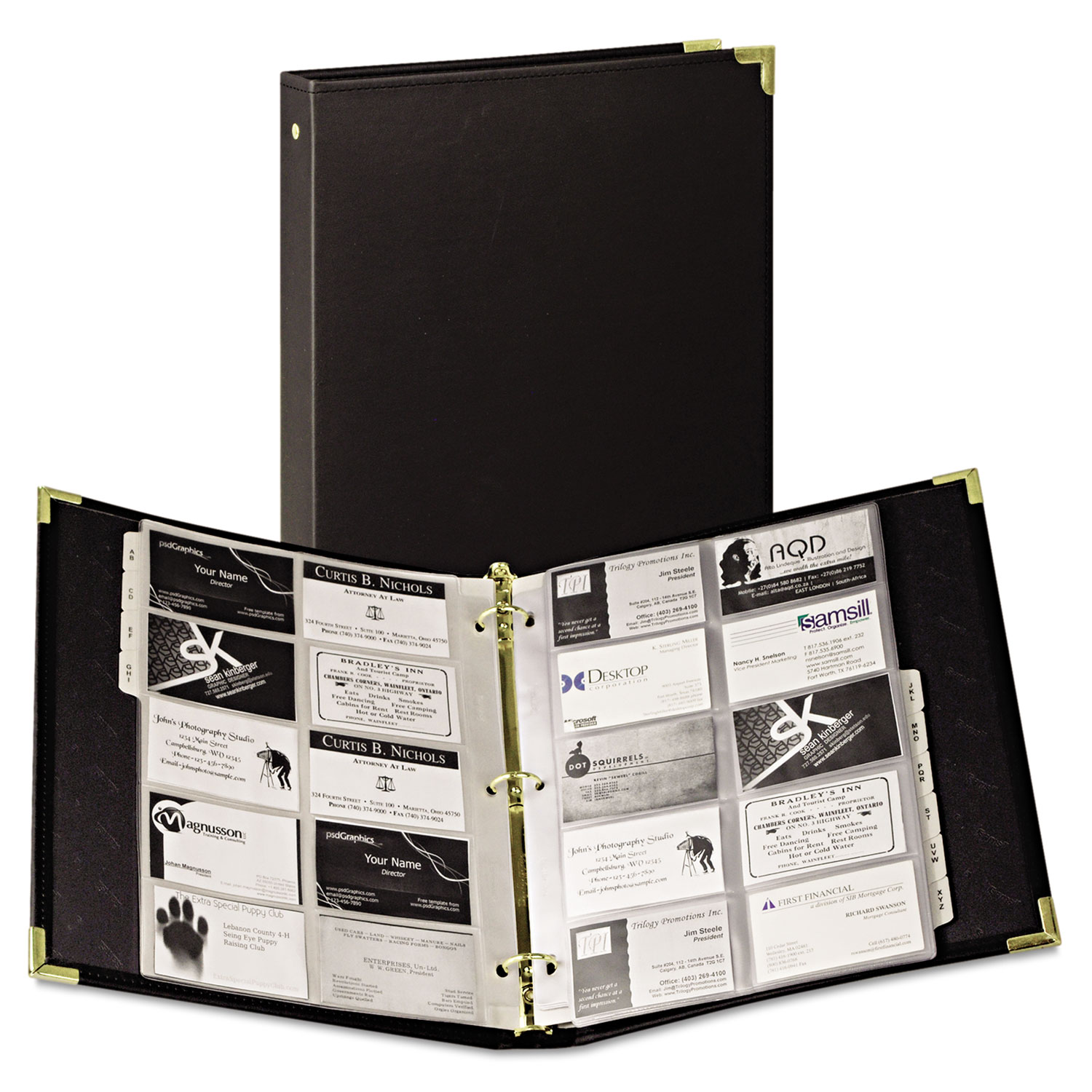 classic vinyl business card binder by samsill sam81080