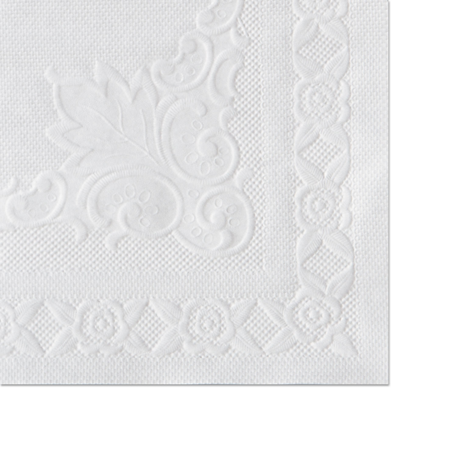 Classic Embossed Straight Edge Placemats, 10 x 14, White, 1,000/Carton