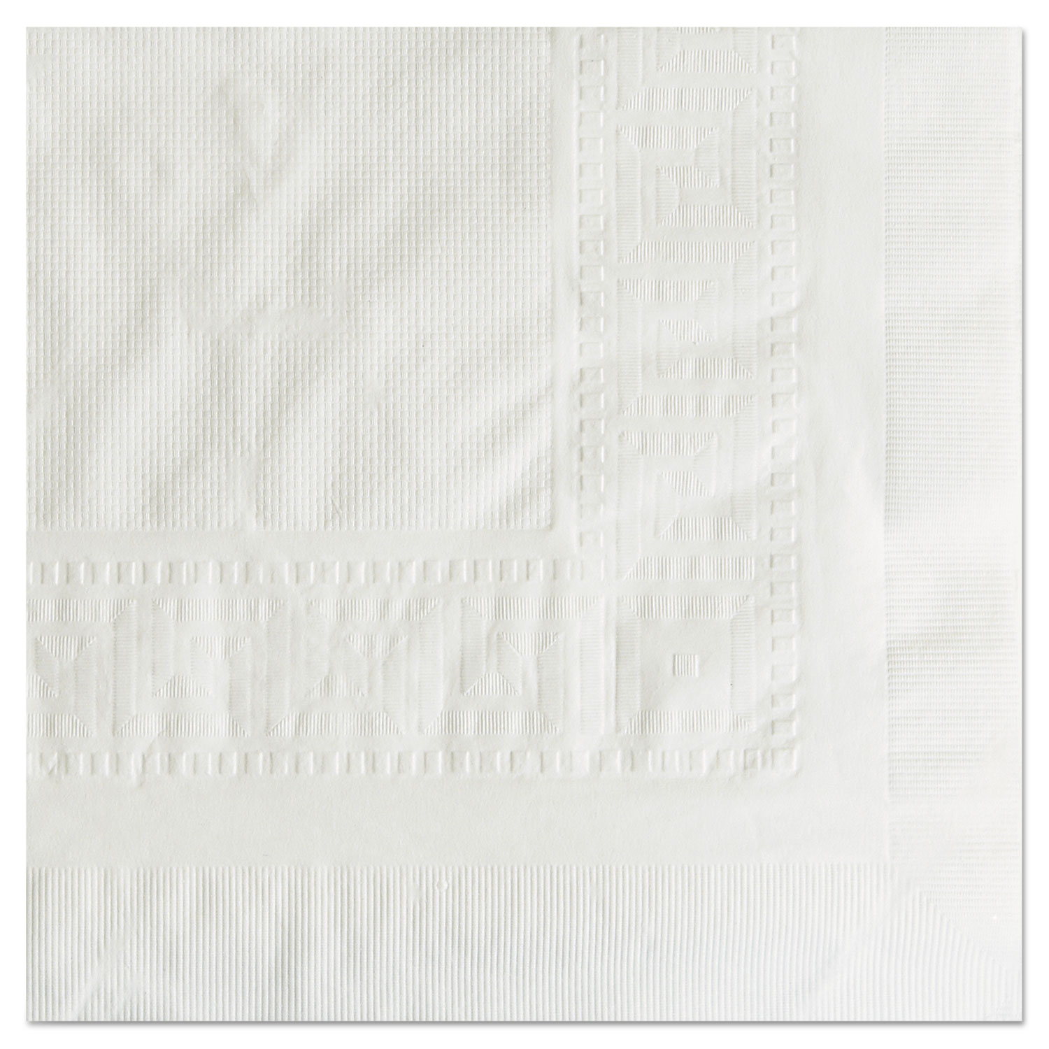 """Cellutex Tablecover, Tissue/Poly Lined, 54 in x 108"""", White, 25/Carton"""