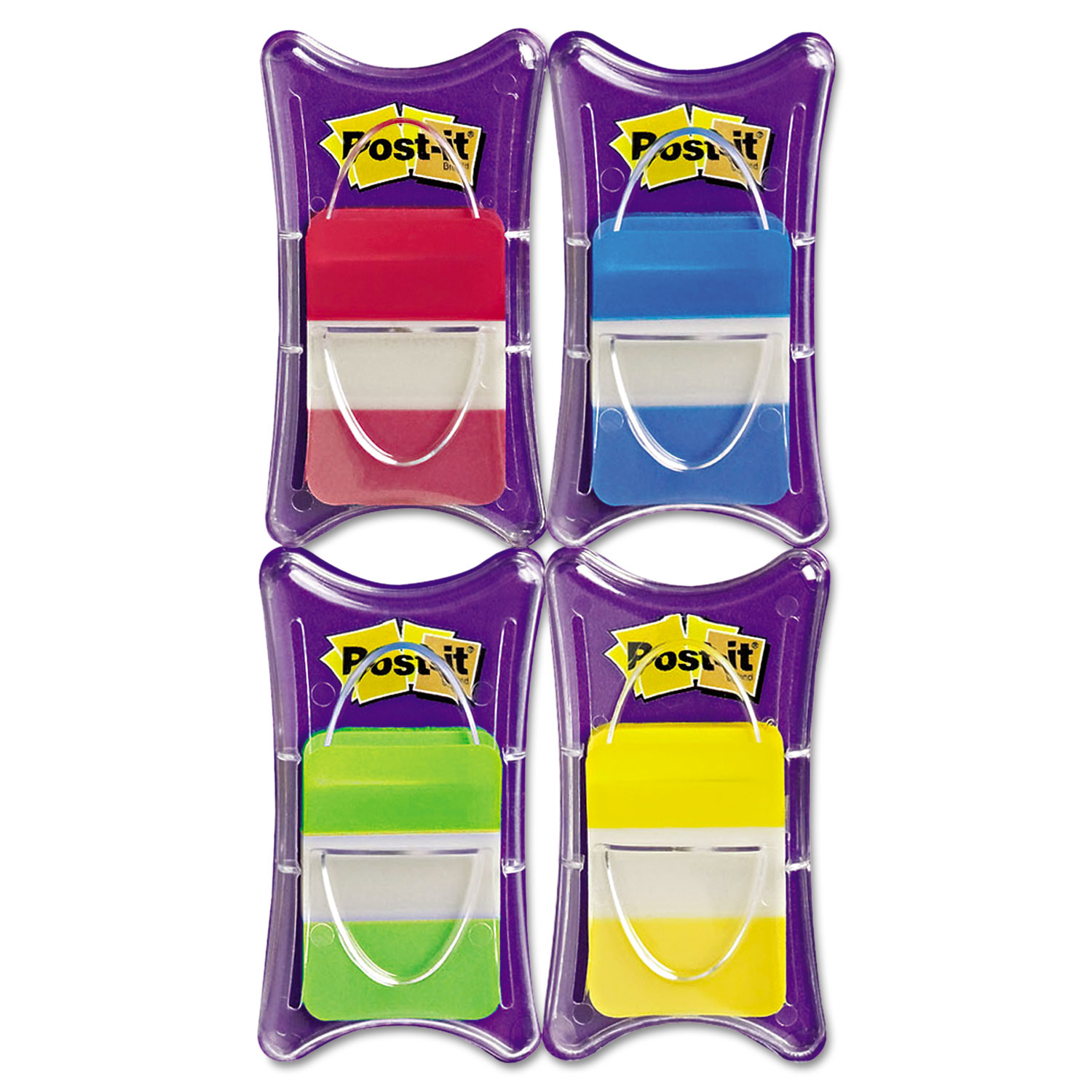 """1"""" Tabs, 1/5-Cut Tabs, Assorted Colors, 1"""" Wide, 100/Pack"""