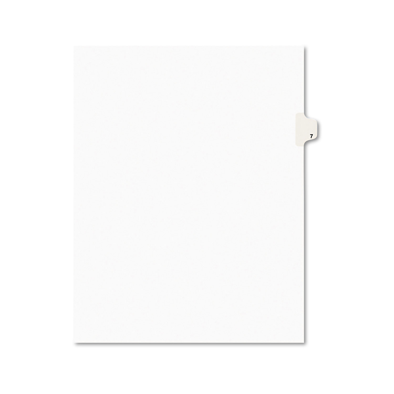 Preprinted Legal Exhibit Side Tab Index Dividers, Avery Style, 10-Tab, 7, 11 x 8.5, White, 25/Pack