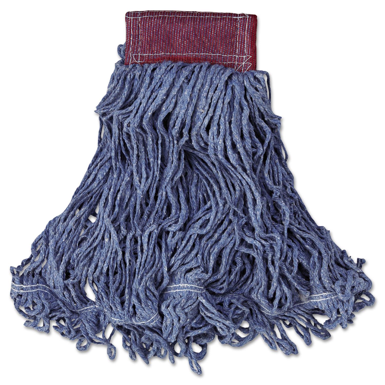 Super Stitch Blend Mop Head, Large, Cotton/Synthetic, Blue