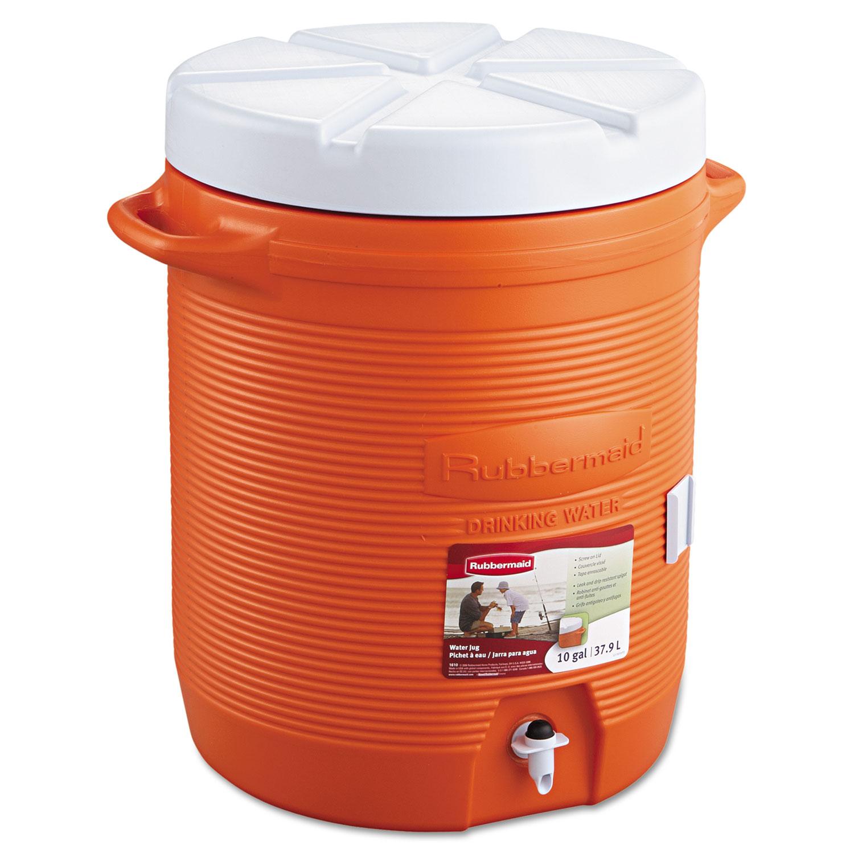 Insulated Beverage Container, 16 dia. x 20 1/2h, Orange