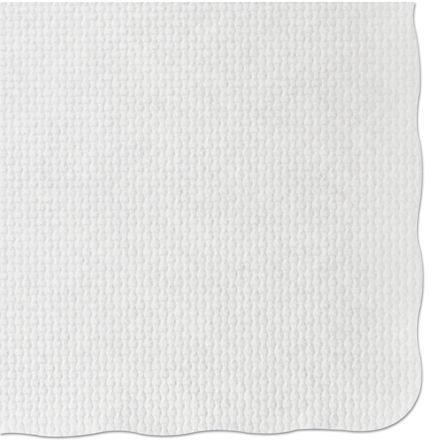 Knurl Embossed Scalloped Edge Placemats, 9.5 x 13.5, White, 1,000/Carton
