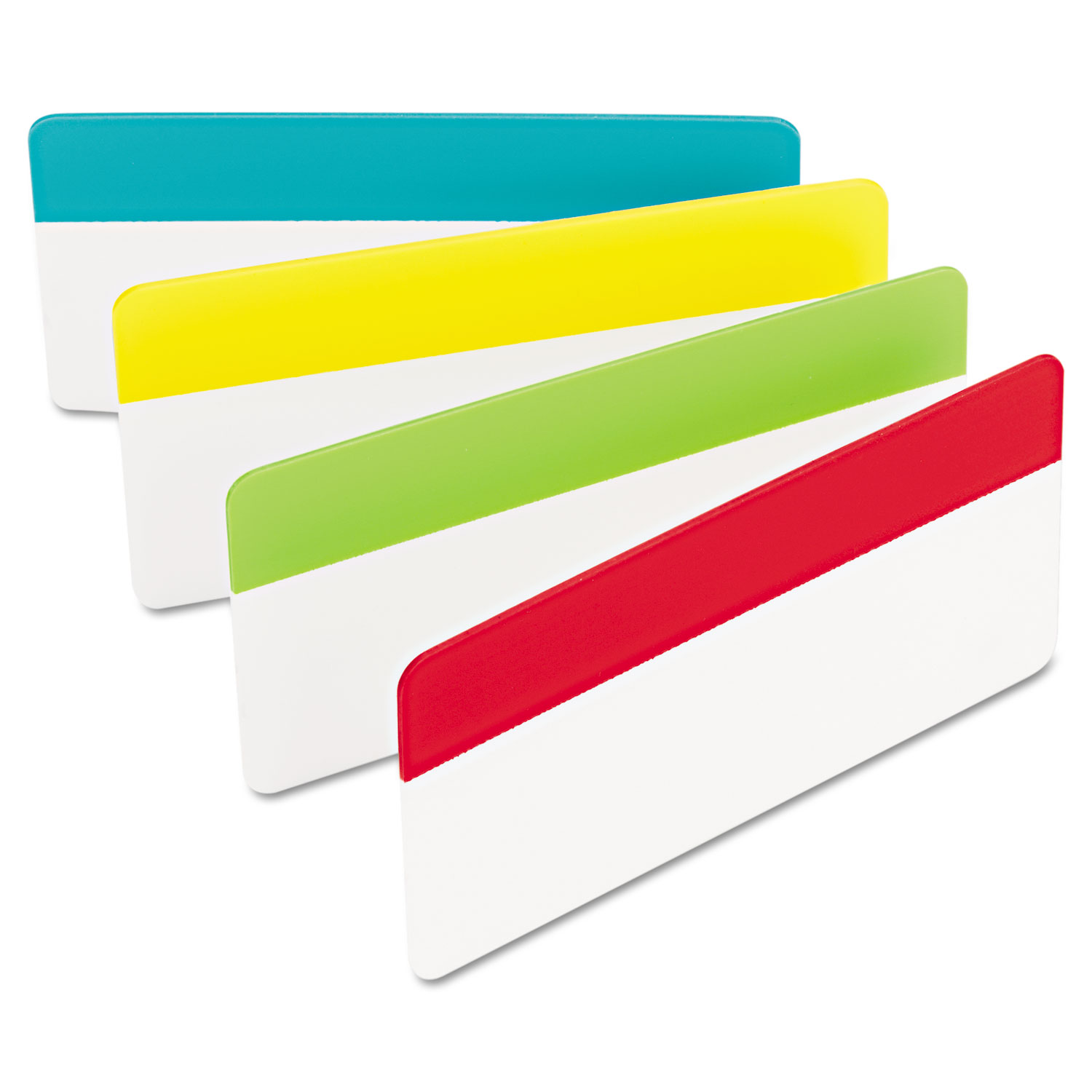 """2"""" and 3"""" Tabs, 1/3-Cut Tabs, Assorted Colors, 3"""" Wide, 24/Pack"""