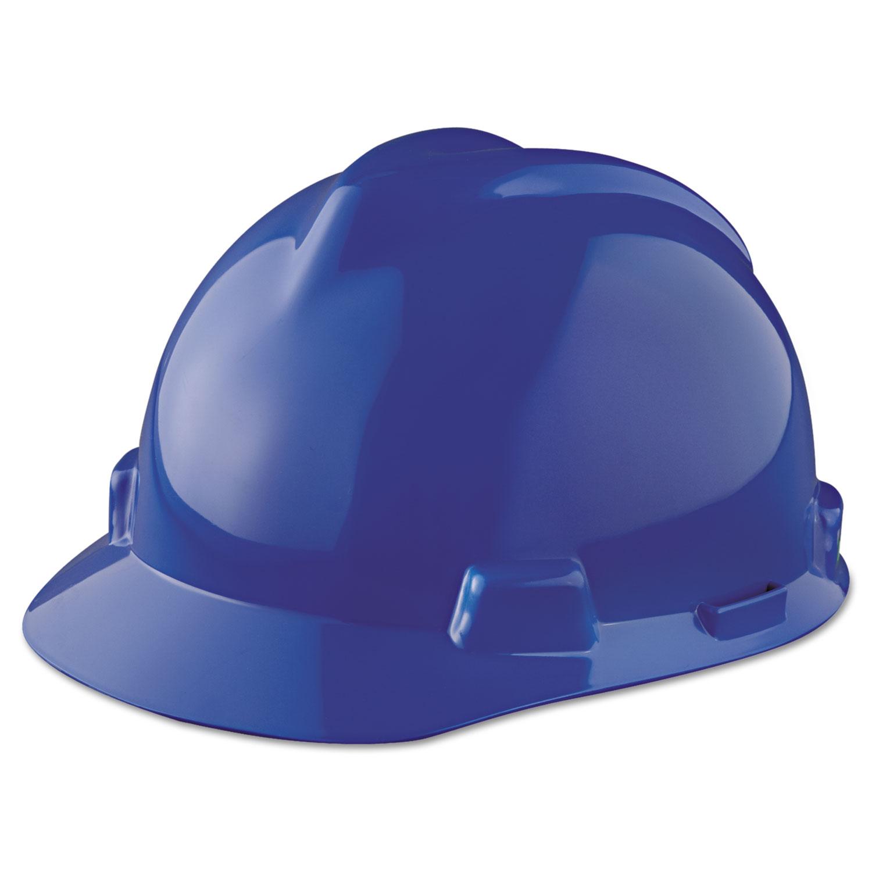 32bb00eb7bcdcb V-Gard Hard Hats, Staz-On Pin-Lock Suspension, Size 6 1/2 - 8, Blue ...