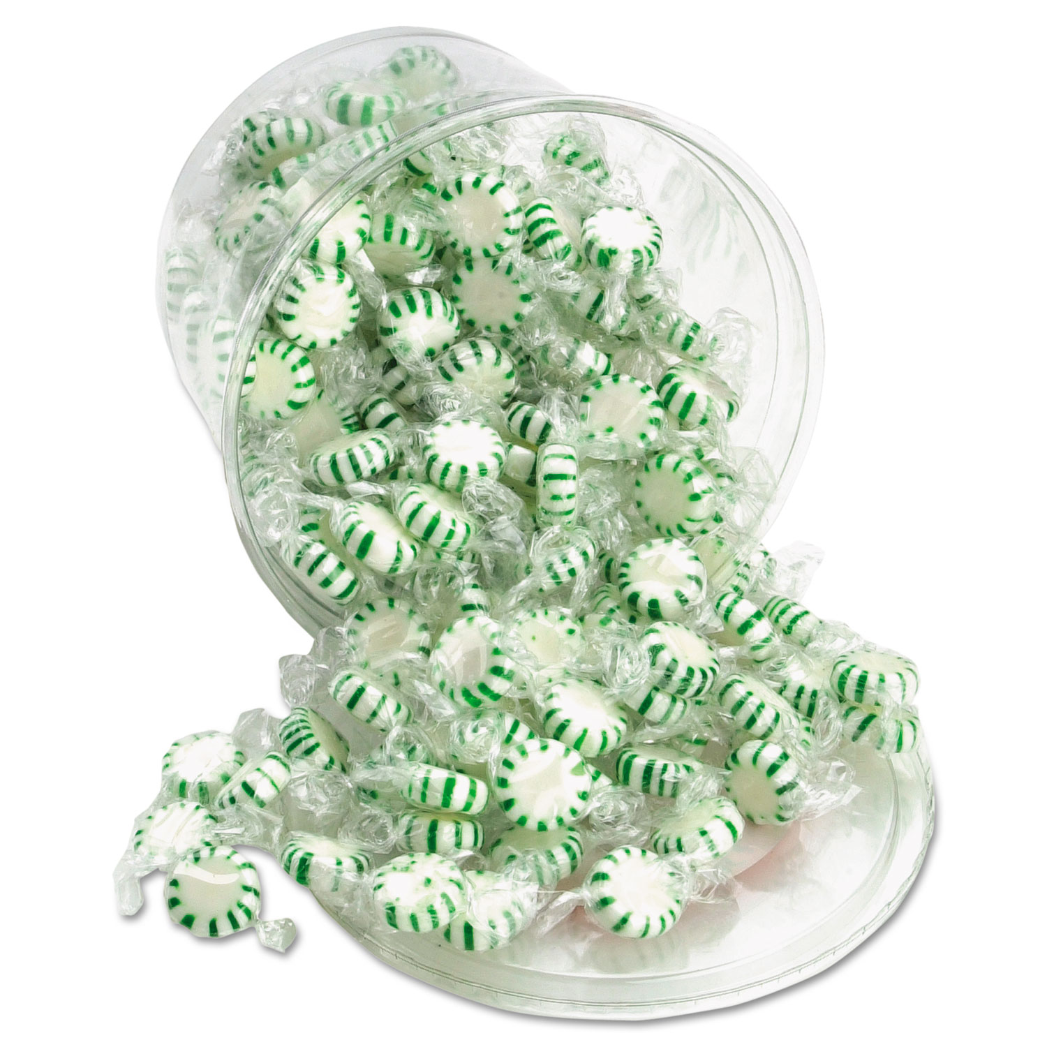 Starlight Mints, Spearmint Hard Candy, Individual Wrapped, 2 lb Resealable Tub
