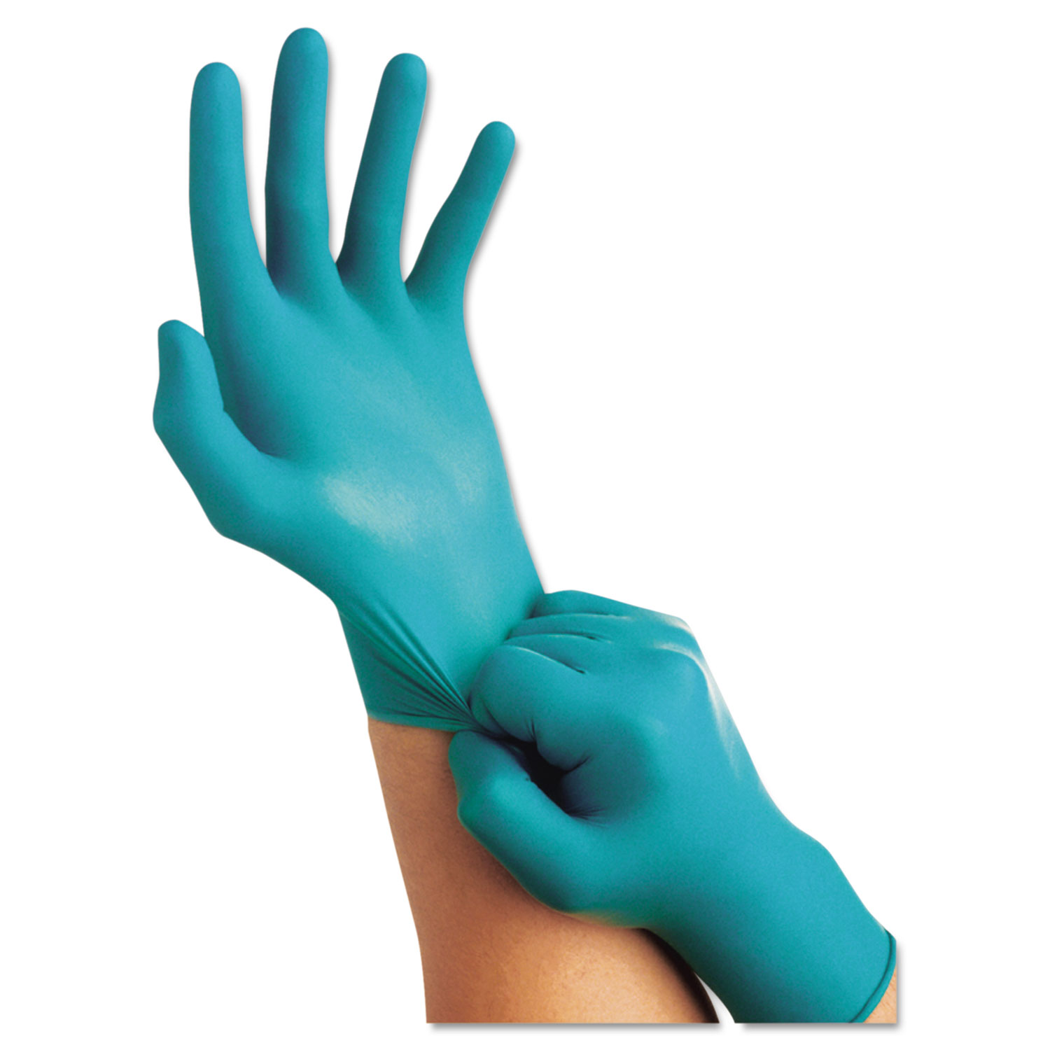 Touch N Tuff Nitrile Gloves, Size 6 1/2 - 7