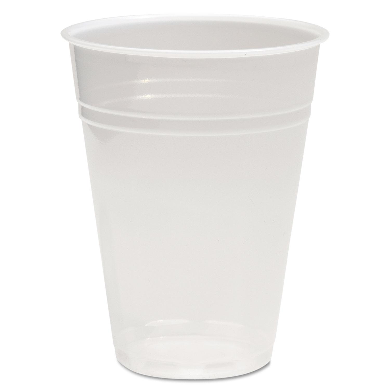 Translucent Plastic Cold Cups, 9oz, Polypropylene, 100/Pack