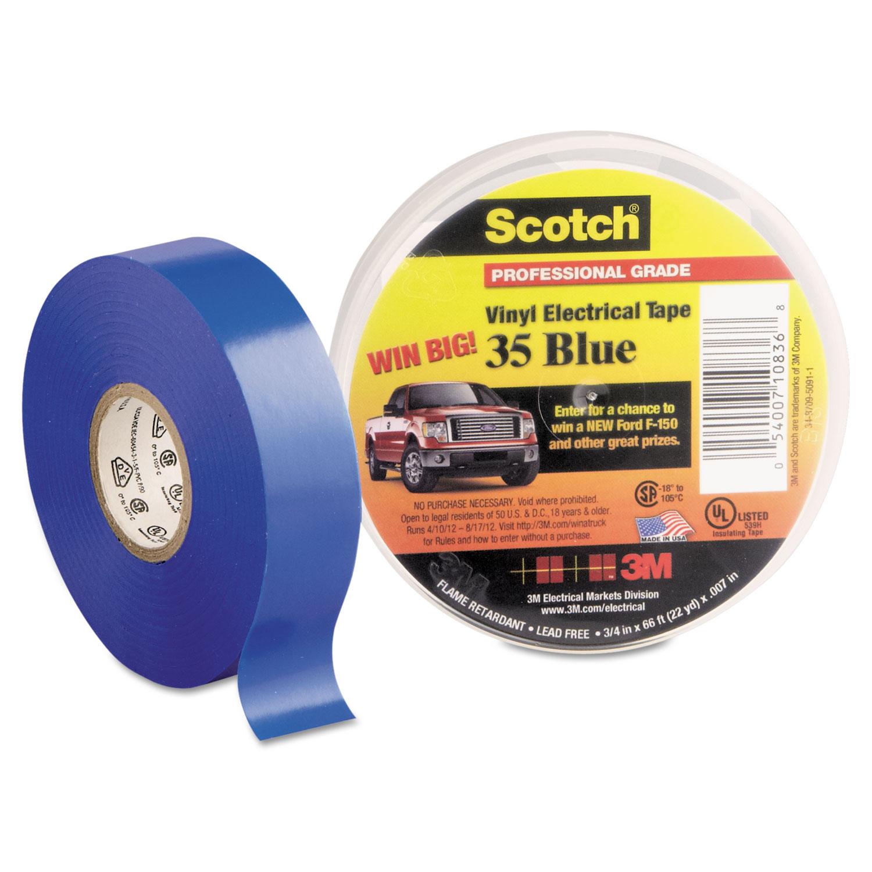 Scotch 35 Vinyl Electrical Color Coding Tape 3 4 Quot X 66ft