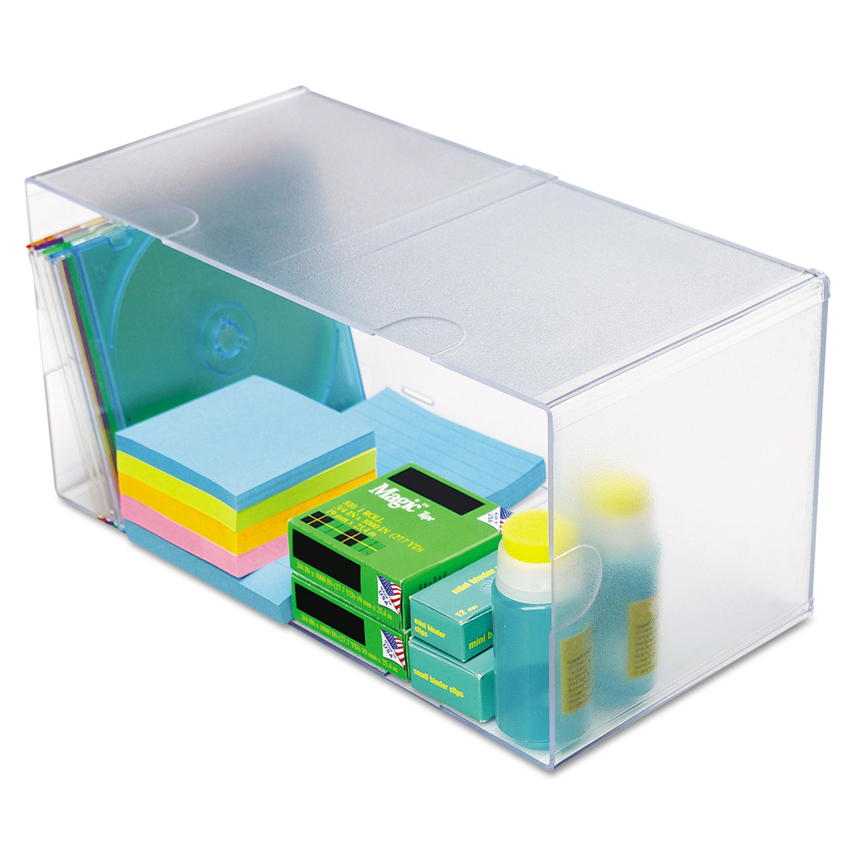 deflecto® Desk Cube, Double Cube, 12 x 6 x 6