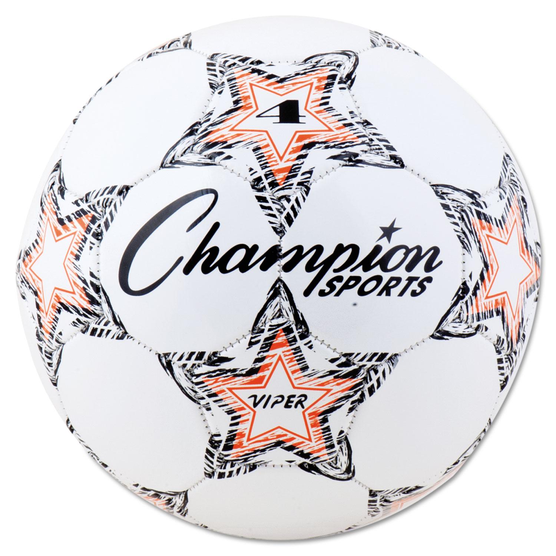 """VIPER Soccer Ball, Size 4, 8""""- 8 1/4"""" dia., White"""