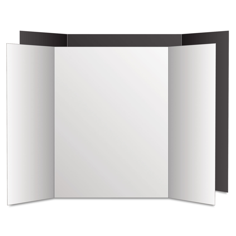 Too Cool Tri-Fold Poster Board, 36 x 48, Black/White, 6/PK