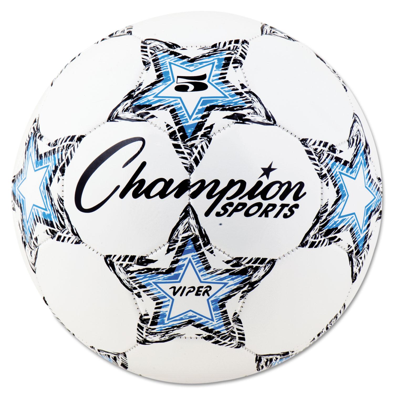 VIPER Soccer Ball, Size 5, 8 1/2- 9 dia., White