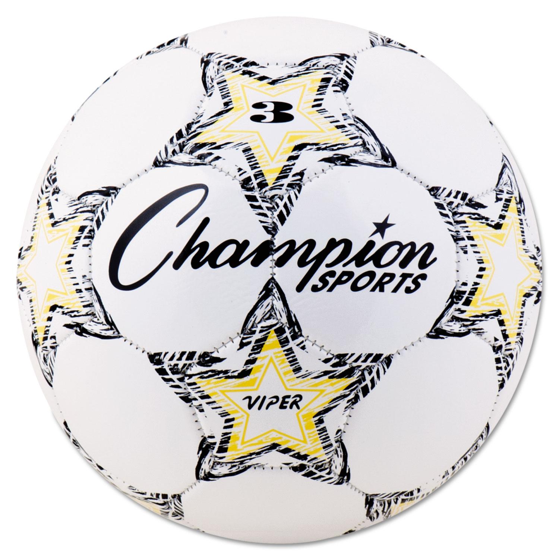 """VIPER Soccer Ball, Size 3, 7 1/4""""- 7 1/2"""" dia., White"""