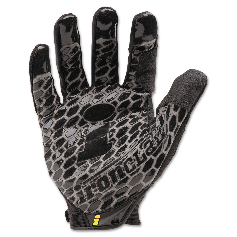 Box Handler Gloves, Black, Large, Pair
