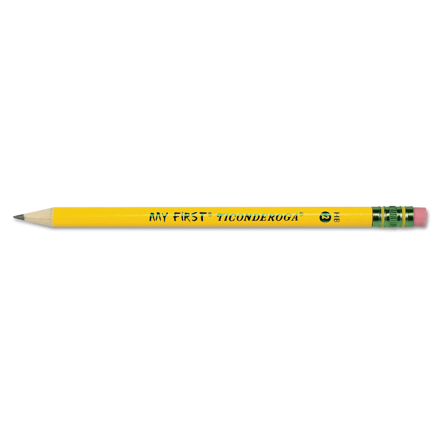 My First Woodcase Pencil with Eraser, HB (#2), Black Lead, Yellow Barrel, Dozen