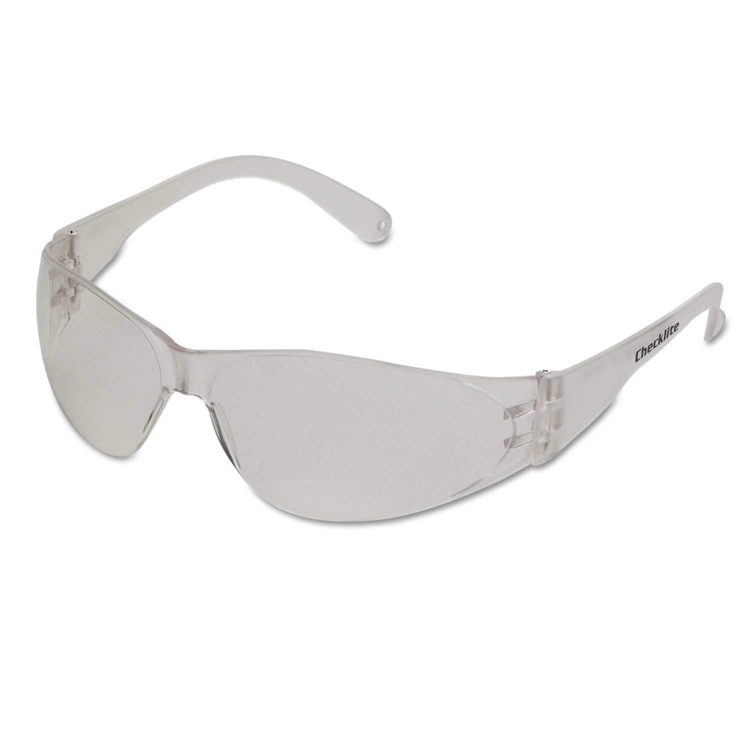 Checklite Safety Glasses, Clear Frame, Anti-Fog Lens