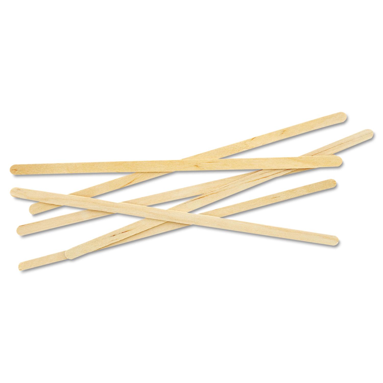 "Renewable Wooden Stir Sticks - 7"", 1000/PK, 10 PK/CT ECONTSTC10CCT"