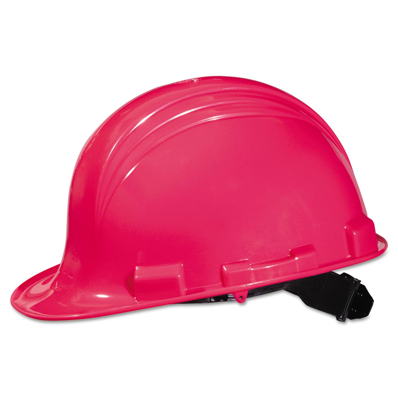A-Safe Peak Hard Hat, Hot Pink, 4-Point Suspension