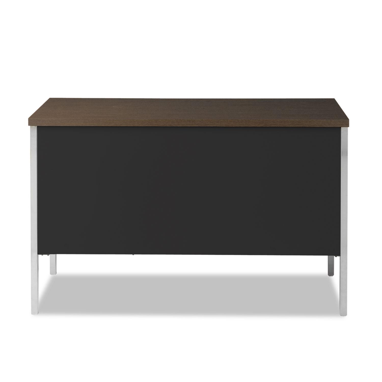 Single Pedestal Steel Desk By Alera 174 Alesd4524bm