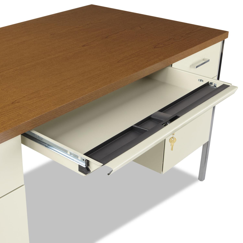 Double Pedestal Steel Desk By Alera 174 Alesd6030pc
