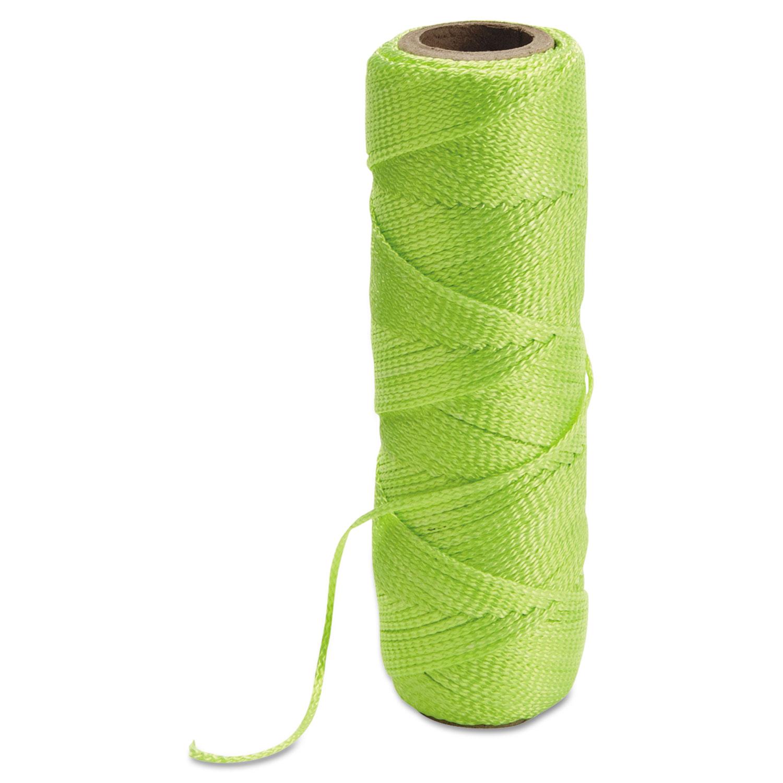 100% Braided Nylon Masons Line, 250ft, Fluorescent Yellow