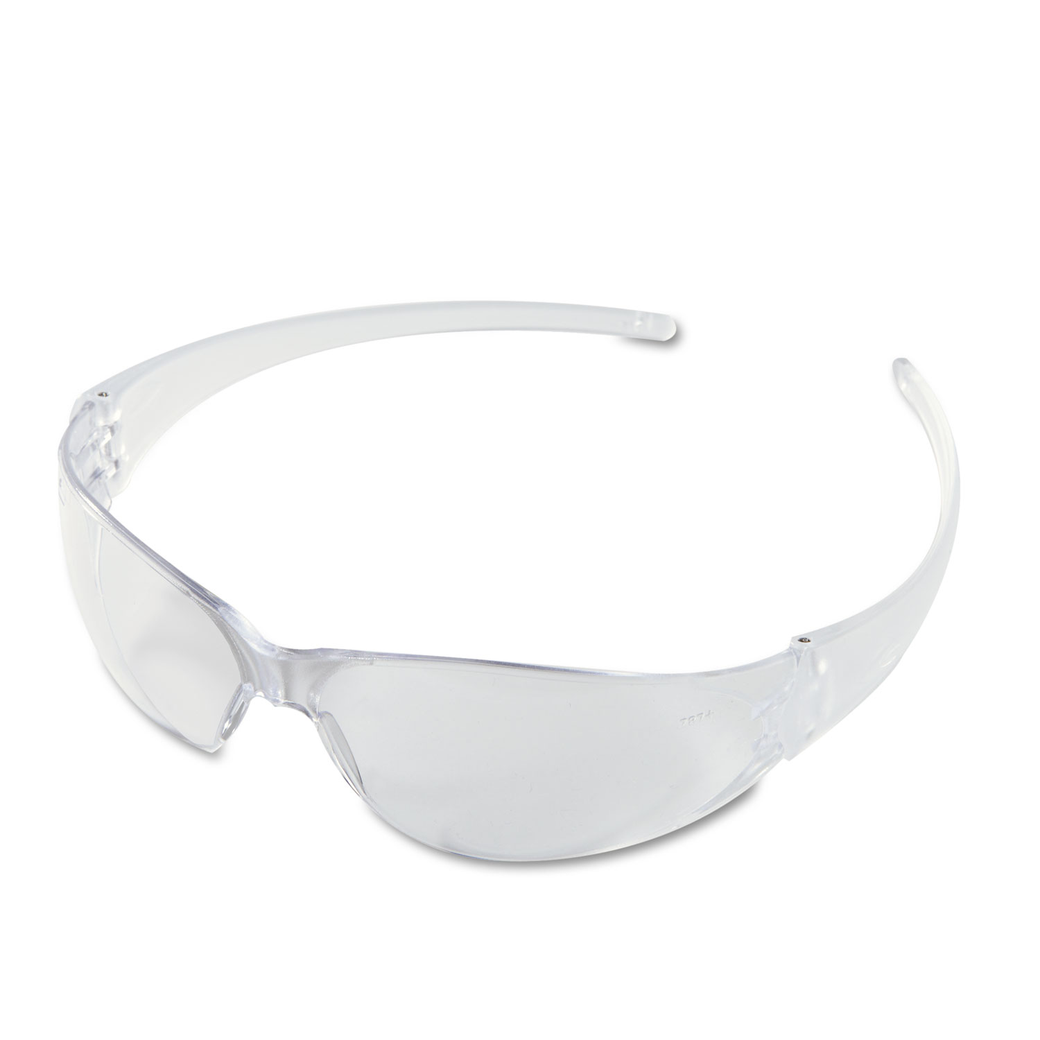 Checkmate Wraparound Safety Glasses, CLR Polycarbonate Frame, Coated Clear Lens