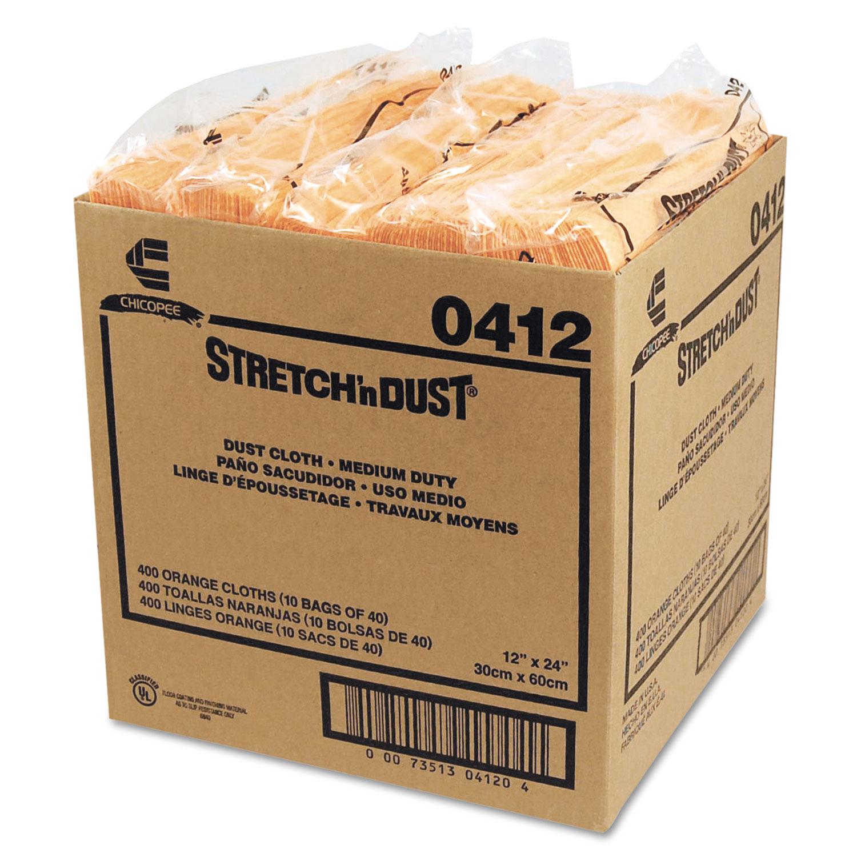 Stretch 'n Dust Cloths, 11 5/8 x 24, Yellow, 40 Cloths/Pack, 10 Packs/Carton