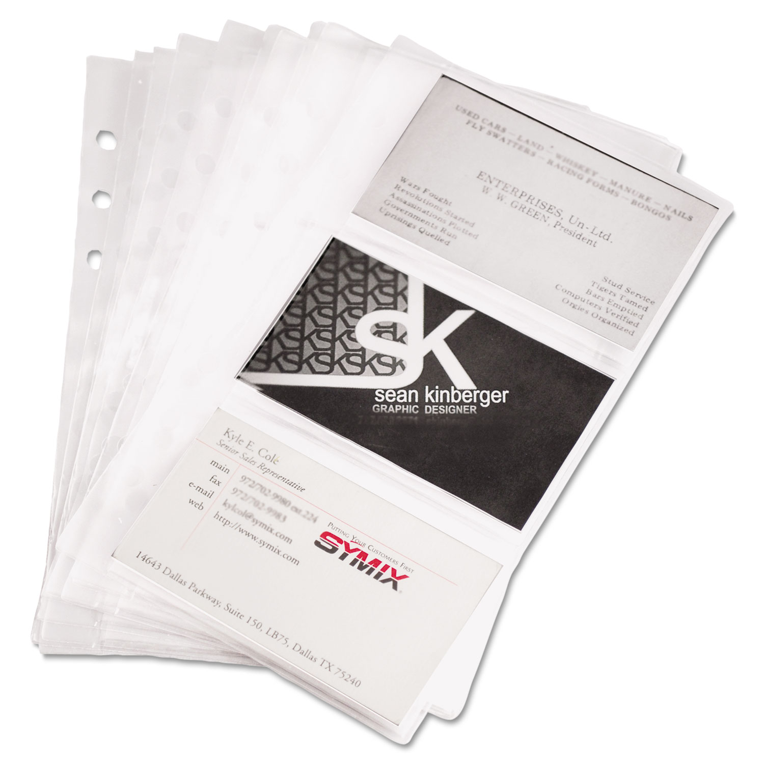 Refill sheets for 4 14 x 7 14 business card binders by samsill sam81079 thumbnail 1 reheart Gallery