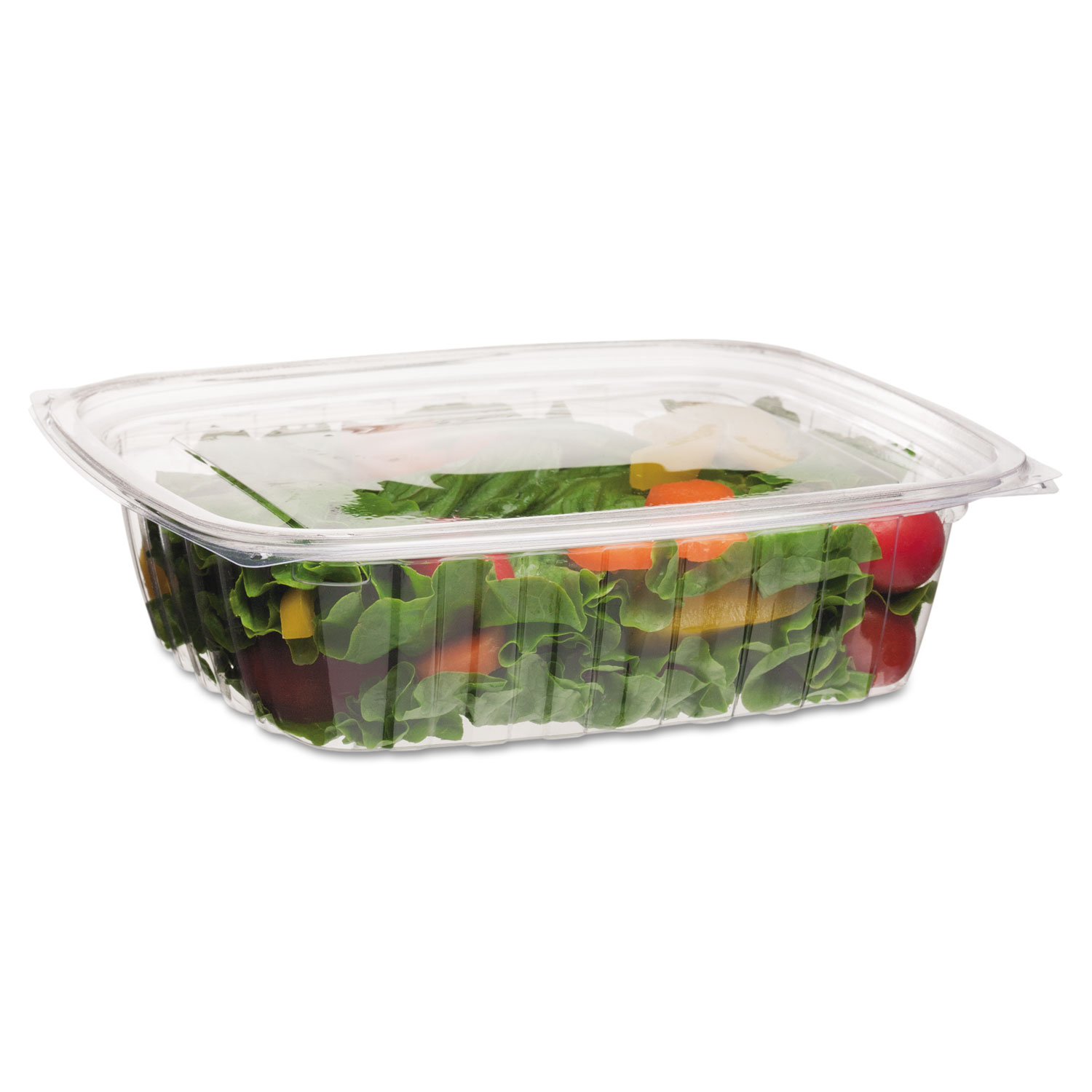 Renewable and Compostable Rectangular Deli Containers, 48 oz, 50/Pack, 4 Packs/Carton ECOEPRC48