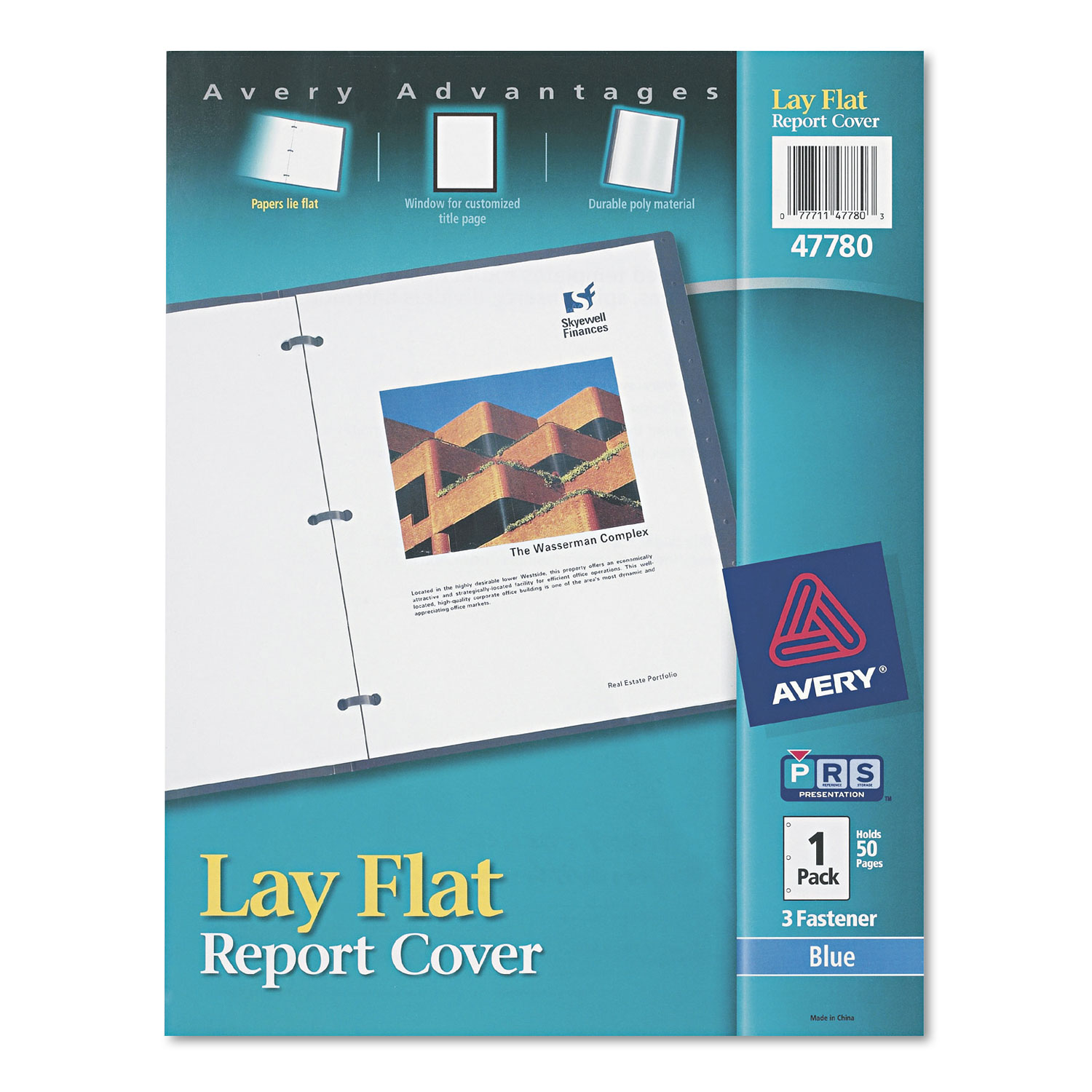 lay flat view report cover w flexible fastener by avery ave47780