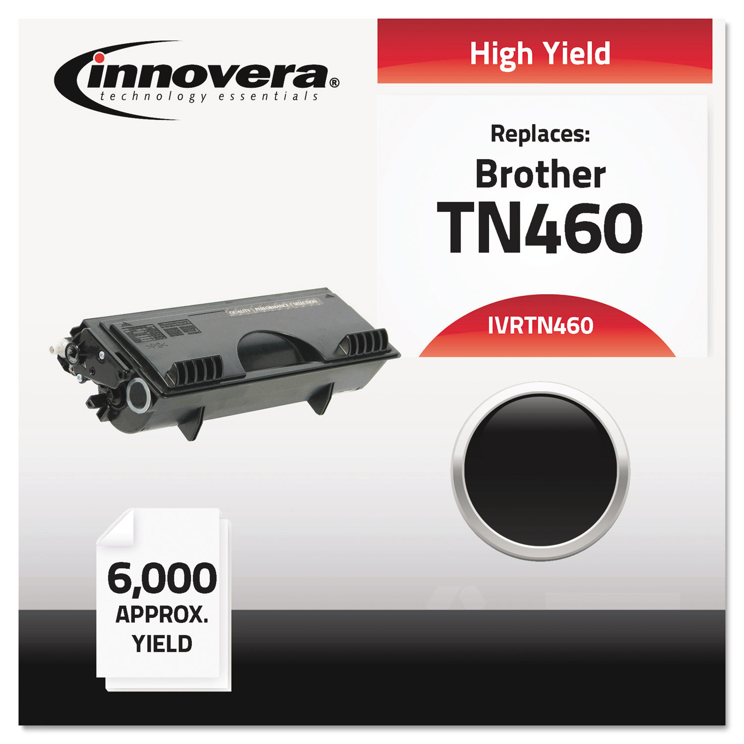 Remanufactured TN460 High-Yield Toner, 6000 Page-Yield, Black