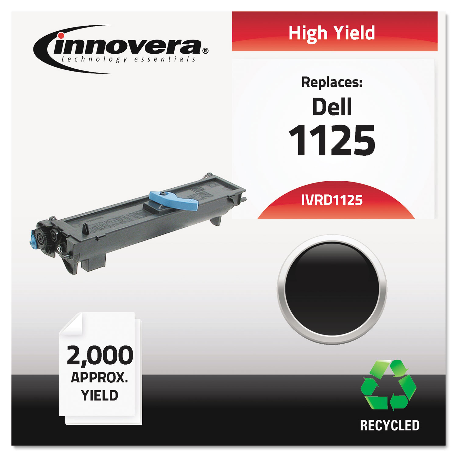 Remanufactured 310-9319 (1125) High-Yield Toner, 2000 Page-Yield, Black