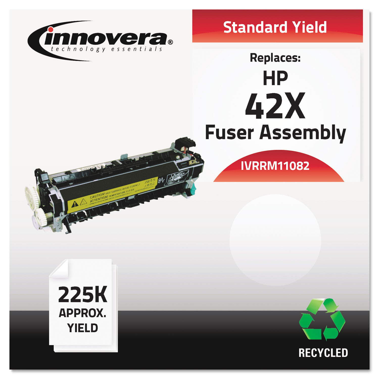 Remanufactured RM1-1082-000 (42X) Fuser, 225,000 Page-Yield IVRRM11082