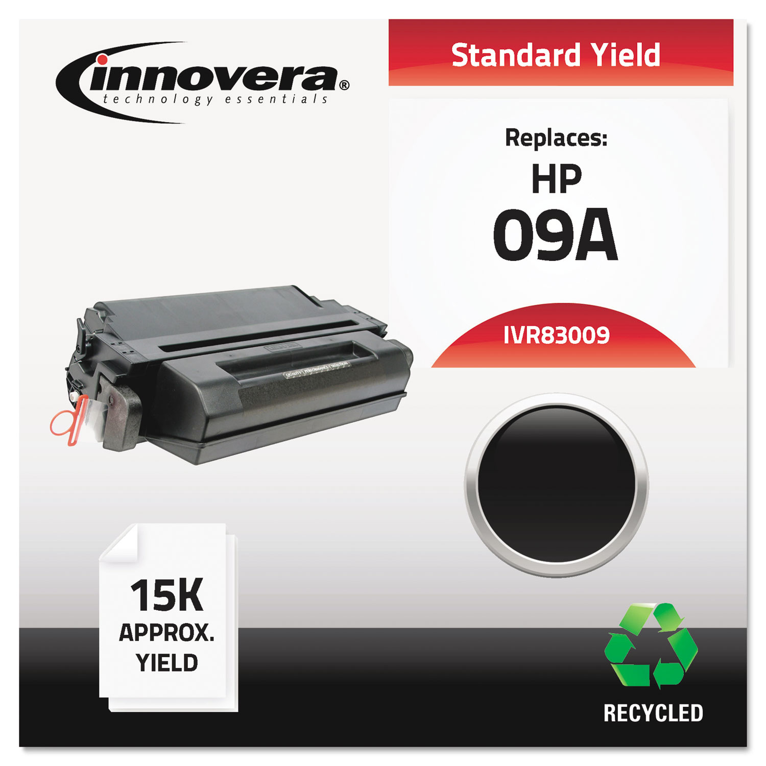Remanufactured C3909A (09A) Toner, 15000 Page-Yield, Black