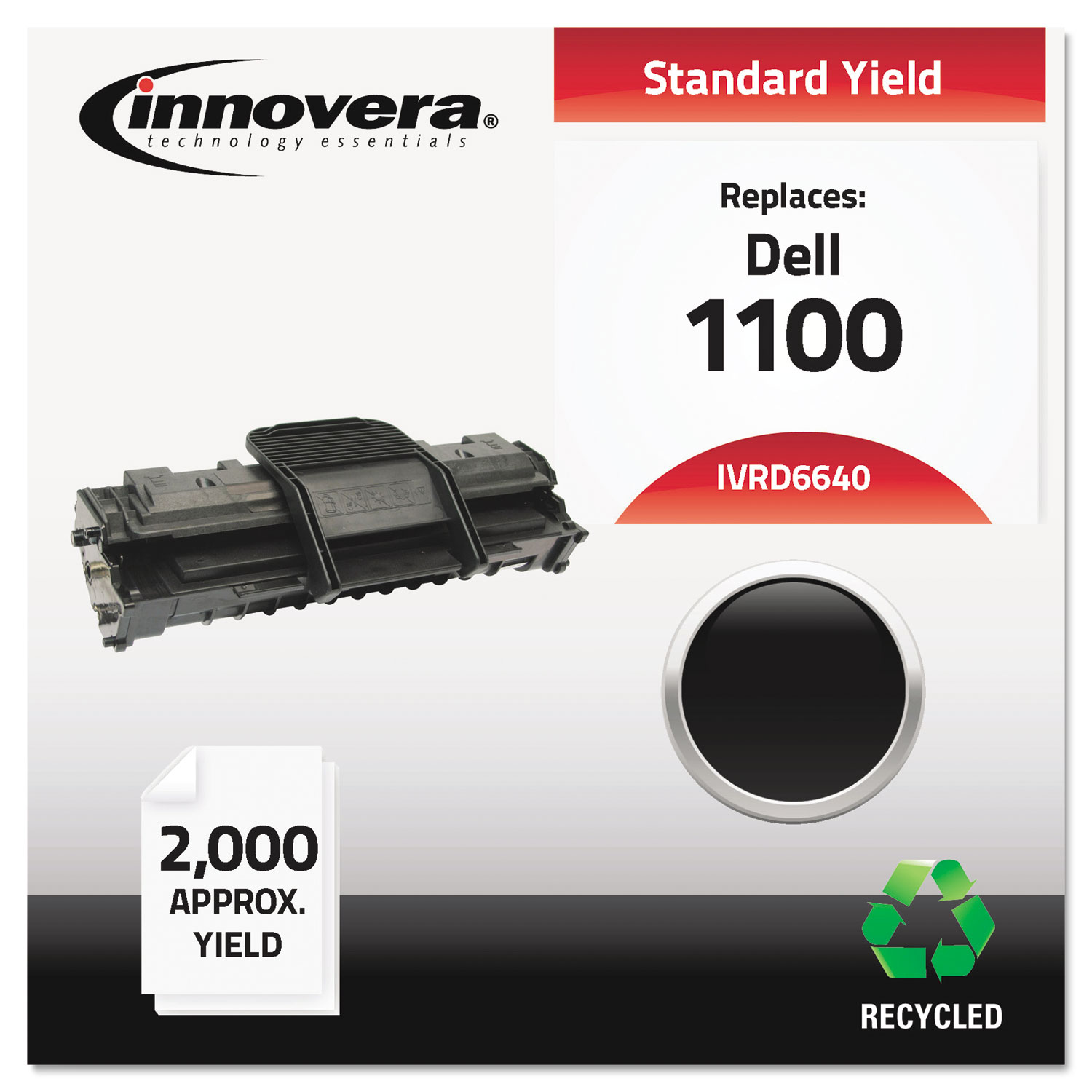 Remanufactured 310-6640 (1100) Toner, 2000 Page-Yield, Black