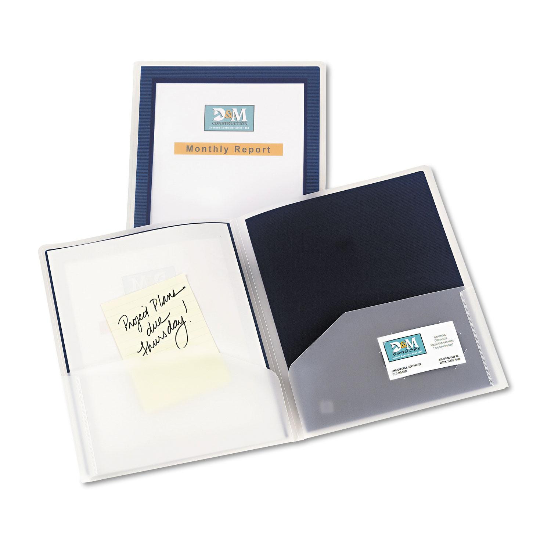 flexi view two pocket polypropylene folder by avery ave47846