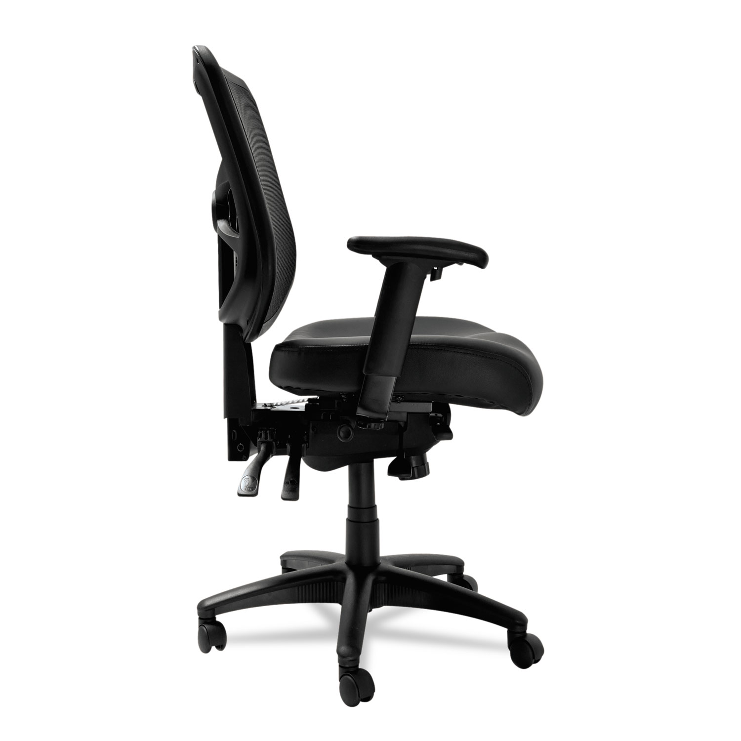 Delicieux Alera Elusion Series Mesh Mid Back Multifunction Chair, Black Leather.  ALEEL4215 Thumbnail. ALEEL4215 Thumbnail 1 ALEEL4215 Thumbnail 2 ALEEL4215  Thumbnail ...