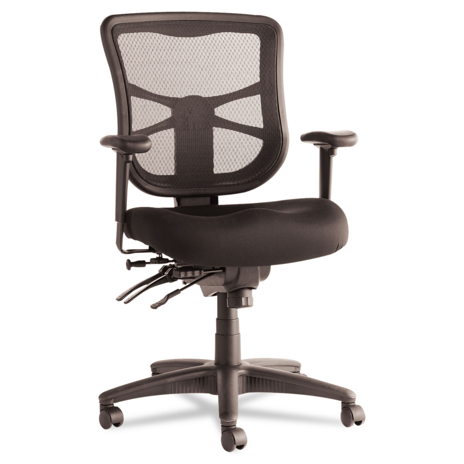 Bon Alera Elusion Series Mesh Mid Back Multifunction Chair, Black
