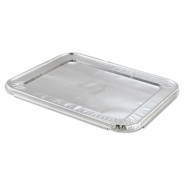 Steam Table Pan Foil Lid, Fits Half-Size Pan, 12 13/16 x 10 7/16, 100/Carton