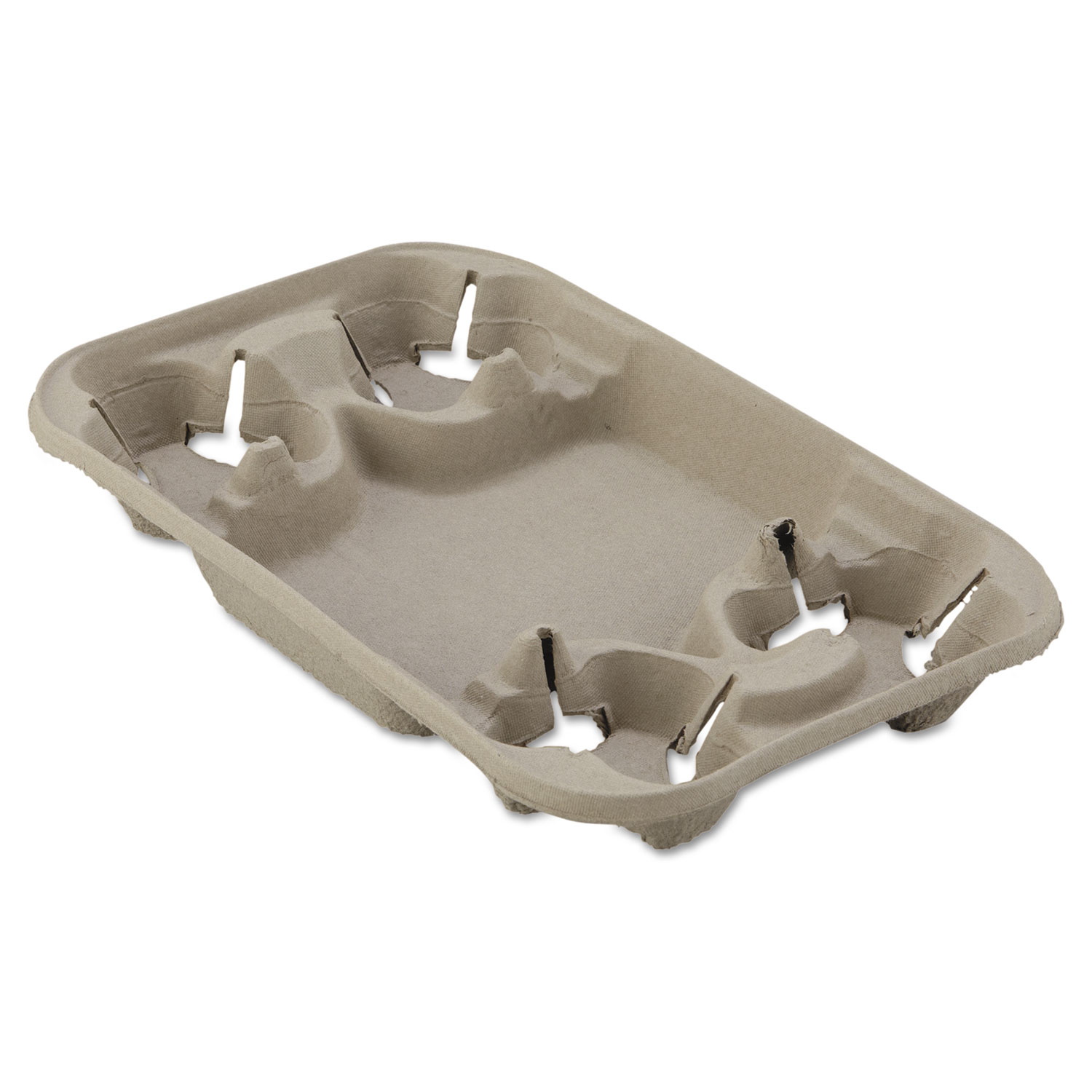 StrongHolder Molded Fiber Cup/Food Tray, 8-22oz, Four Cups, 250/Carton