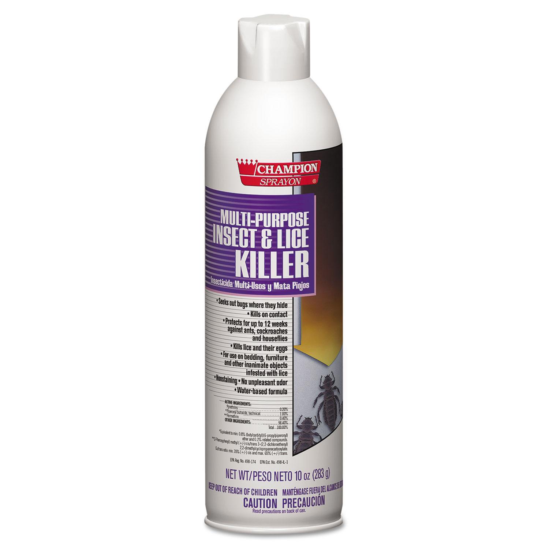 Champion Sprayon Multipurpose Insect & Lice Killer, 10oz, Can