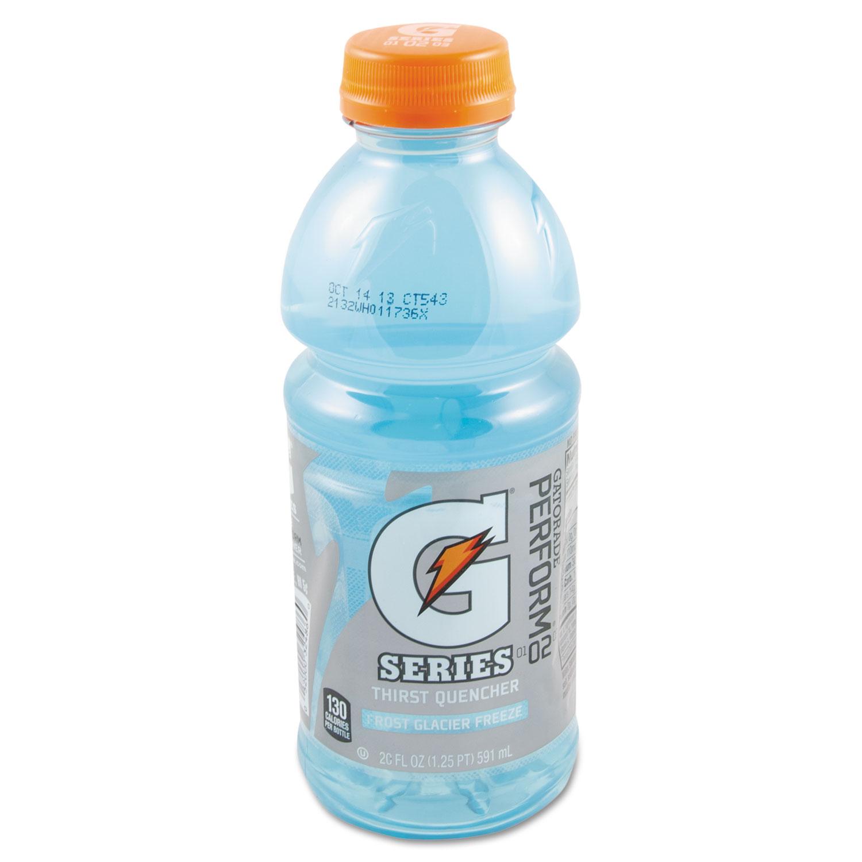 G-Series Perform 02 Thirst Quencher, Glacier Freeze, 20 oz Bottle, 24/Carton