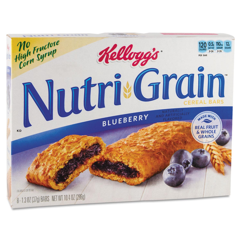 Nutri-Grain Soft Baked Breakfast Bars, Blueberry, Indv Wrapped 1.3 oz Bar, 16/Box