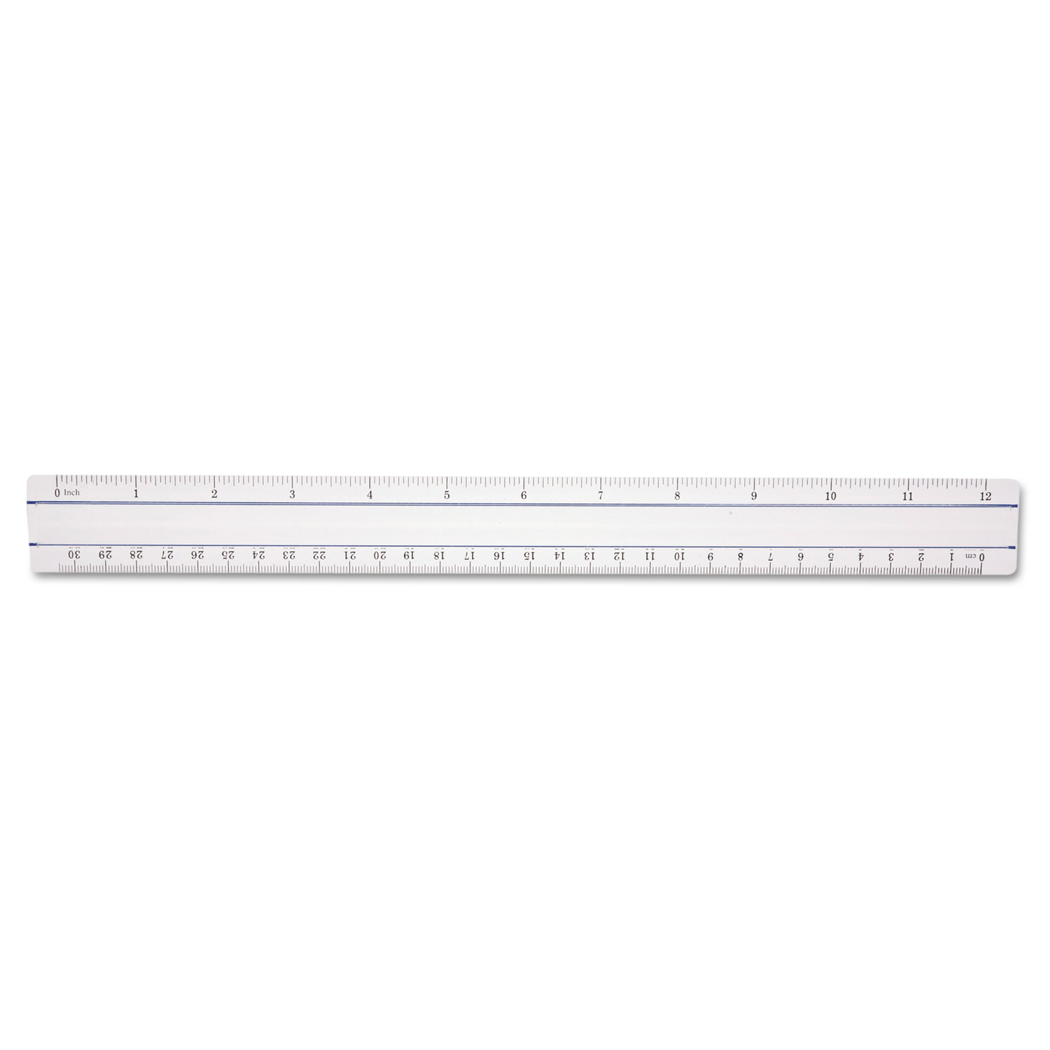 """12"""" Magnifying Ruler, Plastic, Clear"""